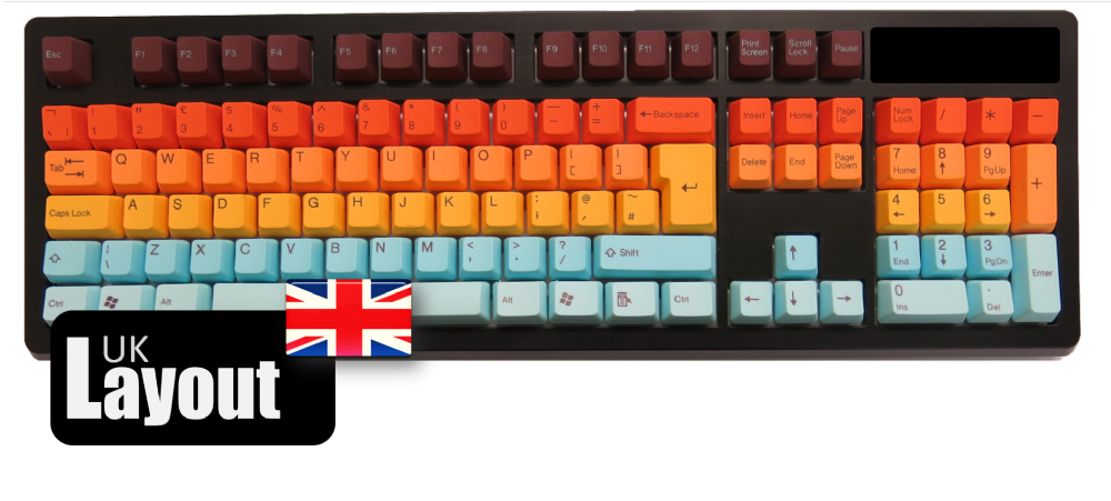 Tai-Hao PBT Double Shot Keycaps Hawaii UK